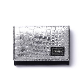 "HEAD PORTER - ""CROCO"" WALLET BLACK/SILVER"