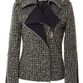 BOUCHRA JARRAR - Tweed Biker Jacket