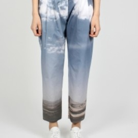 MARIOS - Printed Classic Baggy Trousers