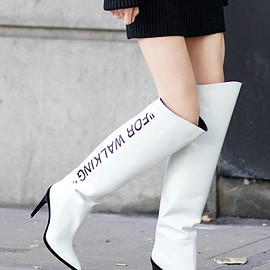 Off-White - Off-White Leather Boots