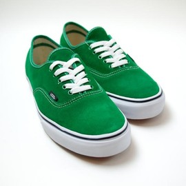 VANS - Authentic suede green