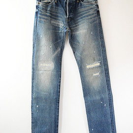 green - ANTIQUE STRAIGHT JEANS