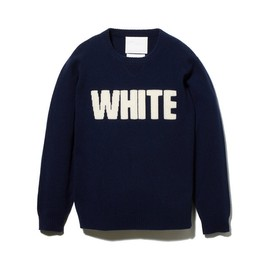 White Mountaineering - Round Neck Knit [WHITE]