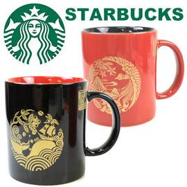 Starbucks Coffee - STARBUCKS 2011JAPAN 漆器 家紋風 マグカップ