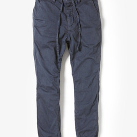 nonnative - DWELLER EASY RIB PANTS C/P TWILL STRETCH OVERDYED