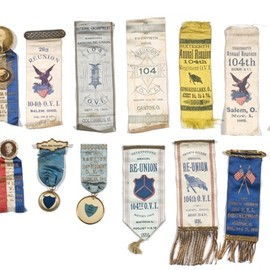 GAR Ribbons and Pinback Medals From the 104th OVI, - Cowans Auctions