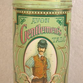 AVON - Vintage Gentlemen's Talc Green Advertising Tin