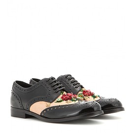 DOLCE&GABBANA - Pre-Fall 2015 Embellished leather brogues