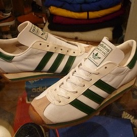 """adidas - 「<deadstock>70's adidas COUNTRY GIRL white/green""""made in FRANCE"""" size:GB3/h(22cm) 5800yen」完売"""