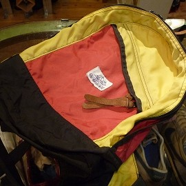 """GREGORY - 「<used>80's GREGORY BACKPACK red/yellow""""made in USA"""" 14800yen」完売"""