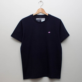 cup and cone - Embroidery Tee - Navy x Grape