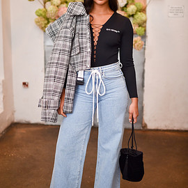Off-White - Off-White Mid-Rise Wide-Leg Jeans