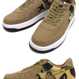 A BATHING APE - ABATHINGAPE(エイプ)CANVASX1STCAMOSTA【新品】YELLOWCAMO291-001090-278[1860-191-039]-【smtb-TD】【yokohama】