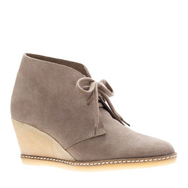J.CREW - MacAlister wedge boots (mink)
