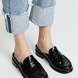 HUNTER - Backless Gloss Penny Loafers