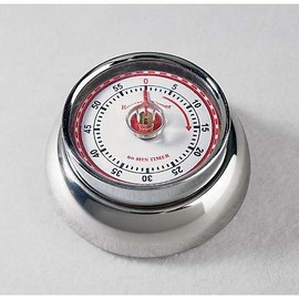Kikkerland - Stainless Magnetic  Kitchen Timer