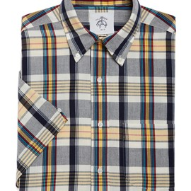 BLACK FLEECE BY Brooks Brothers - SMALL MADRAS BUTTON-DOWN SHORT-SLEEVE SHIRT
