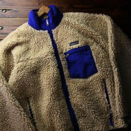 Patagonia Men's Classic Retro-X Fleece Cardigan - Blocks: Glass Blue (BGSB)