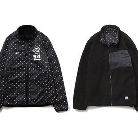 stussy - Fleece Reversible Mock