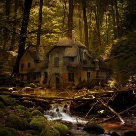 Queen's Hamlet, Versailles, France - Black Forest River