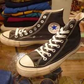 "converse - 「<used>80's converse ALLSTAR HI black""made in USA"" size:US6/h(25cm) 7800yen」完売"