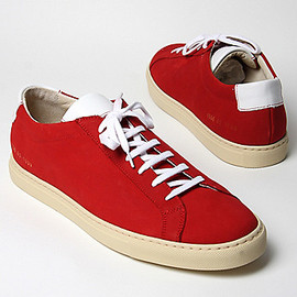 Common Projects - Achilles Vintage Low Trainers RED