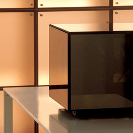 Brionvega - Cuboglass TV set, Mario Bellini