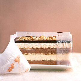 Martha Stewarts - Black-and-White Peanut Bar Ice Cream Cake