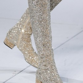 Saint Laurent - Fall/Winter 14.15 Gold Glitter Boots