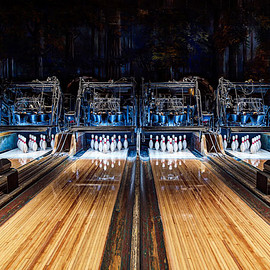Los Angeles, California, USA - Highland Park Bowling Alley