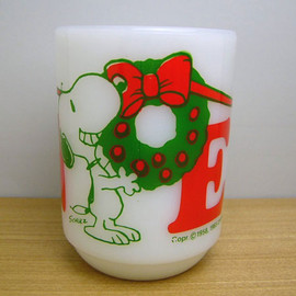 Fire King - Snoopy Noel mug cup