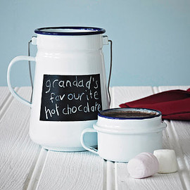 Enamel - Enamel Chalkboard Flask And Mug