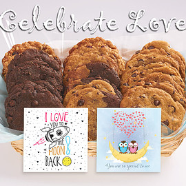 Better Cookies.ca - Celebrate Love Cookie Basket - Valentine's Day Cookie Gifts