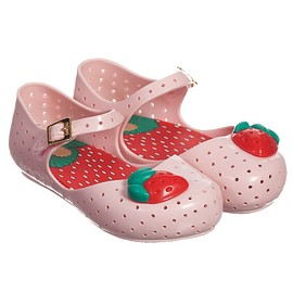 MINI MELISSA - Pale Pink Jelly Shoes with Strawberry, Mini Melissa, Girl