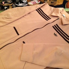 "adidas - 「<used>1970s adidas ZIP UP JACKET light brown/dark brown""made in WEST-GERMANY"" size:50 12800yen」完売"