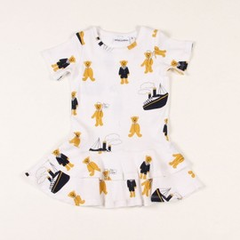 Mini Rodini - TEDDY PRINT BABY DRESS