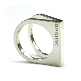 no quiet - 2-hole ring(Triangle Type)