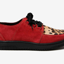 MARC JACOBS - Suede and Leopard Print Sneaker