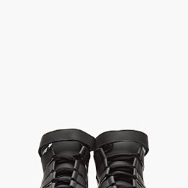 PIERRE HARDY - Black Leather DX04 Sneakers
