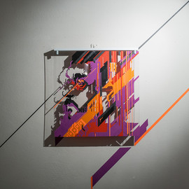 Fortunato Depero – tape on plexiglass