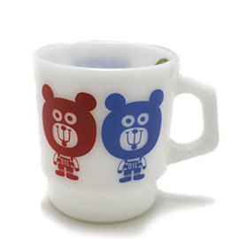 Fire King - Fire King Japan × OIL mug cup オリジナル(ファイヤーキングジャパン)ミルクグラスone