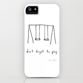 Society6 - don't forget to play iPhone Case by Marc Johns