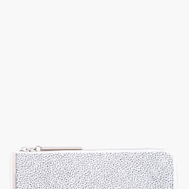 3.1 PHILLIP LIM - 3.1 PHILLIP LIM Speckled White Leather Continental Zip Wallet