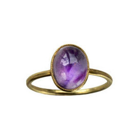 Early 1900s Amethyst Ring, 14K Gold : Erie Basin Antiques