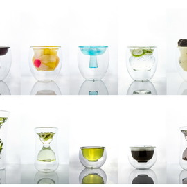 studio KDSZ - defines glass cup cores as ancient chinese bowls