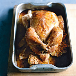 donna hay - thyme and garlic roasted chicken
