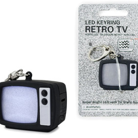 KIKKERLAND - TV STATIC LED KEYCHAIN
