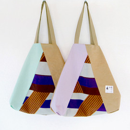 kick FLAG - flag bag [mint×sand, light purple×sand]
