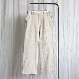 YAECA - Chino Cloth Pants - wide #beige