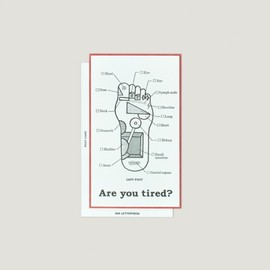 SAB LETTERPRESS - Are you tired? card